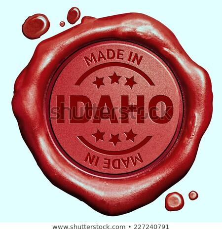 Made in Idaxo - Stamp on Red Wax Seal. Stock photo © tashatuvango