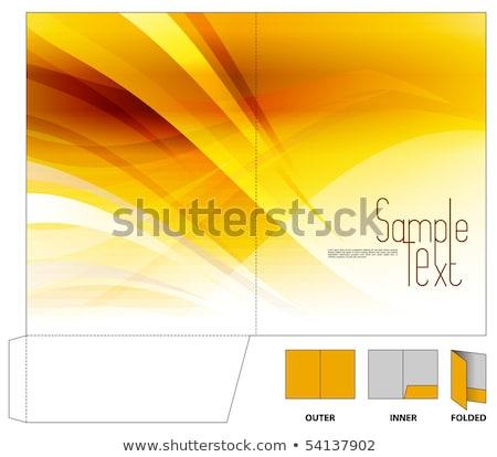 abstrato · artístico · dourado · ícone - foto stock © pathakdesigner