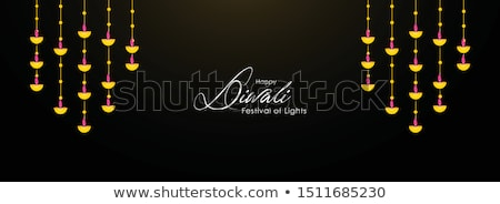 Diwali Lamp bright colorful background vector Stock photo © bharat