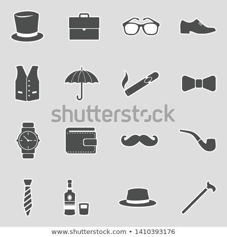 Britânico bigode símbolo bandeira grã-bretanha ícone Foto stock © Lightsource