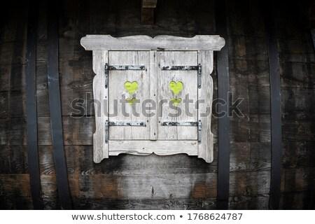 heart frame border window wooden stock photo © fotoaloja