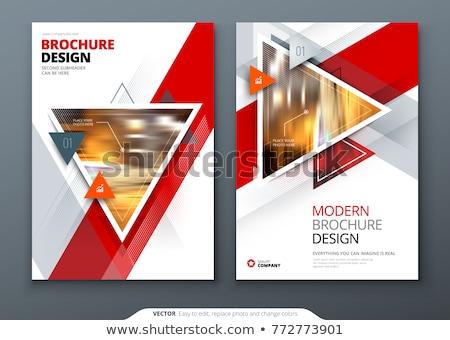 Belsőépítészet szórólap terv papír absztrakt háttér Stock fotó © rioillustrator