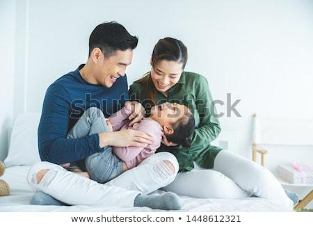 Asya · aile · portre · Çin · rahatlatıcı · park - stok fotoğraf © szefei