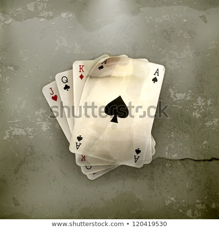 Casino old background with spades poker element , vector illustration Stock photo © carodi