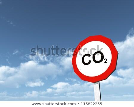 CO2 road sign Stock photo © burakowski