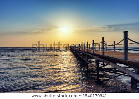 Old wooden pier Stock photo © trala