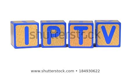 IPTV - Colored Childrens Alphabet Blocks. Stock photo © tashatuvango