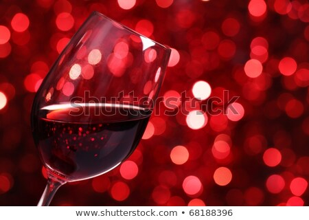 Verre vin rouge illustration bol plein Photo stock © Porteador