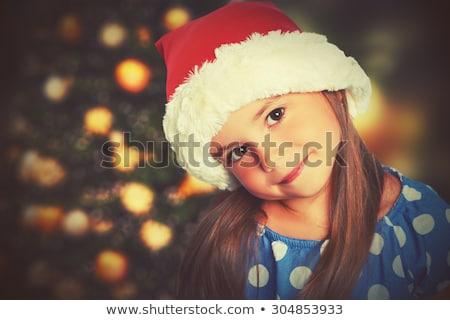 かなり · サンタクロース · 少女 · 手 · 顔 · 白 - ストックフォト © nejron