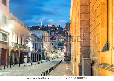 vulcão · central · Equador · casa - foto stock © xura