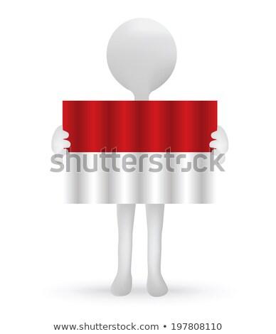 Pequeño hombre 3d indonesio bandera eps Foto stock © Istanbul2009