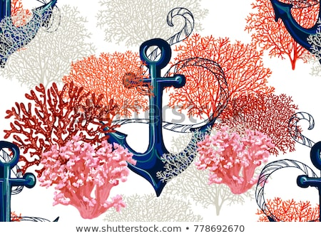 Naadloos zee patroon textiel interieur boek Stockfoto © elenapro