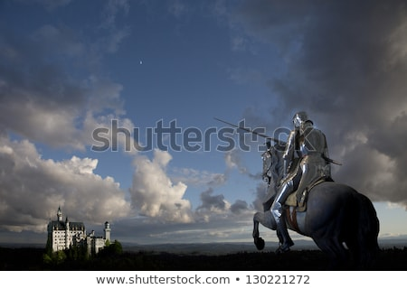 knight and horse with background stock photo © ddraw