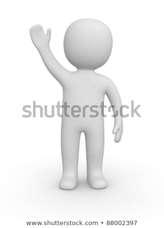 3d man with one hand raised Stock photo © Istanbul2009