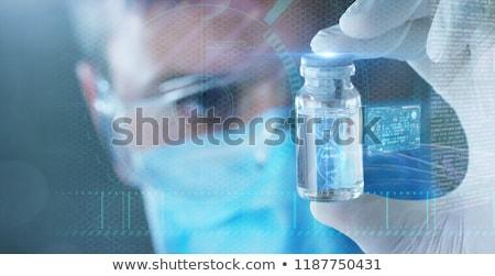 Gelecek tıp büyü hap kapsül dişliler Stok fotoğraf © Lightsource