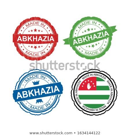Made in Abkhazia on  Rubber Stamp. Stock photo © tashatuvango