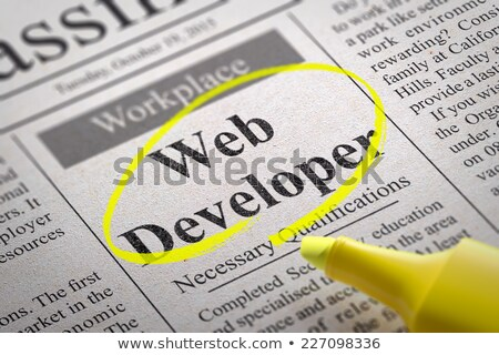веб разработчик газета Поиск работы интернет Сток-фото © tashatuvango
