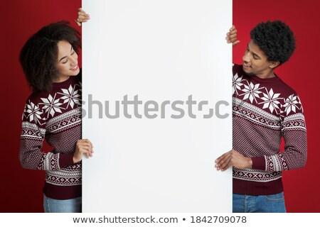 online identity on red billboard stock photo © tashatuvango