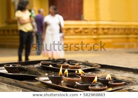 Tütsü yanan tapınak Asya sigara içme Asya Stok fotoğraf © dutourdumonde