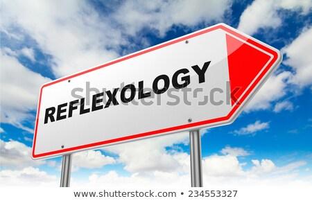 Reflexology on Red Road Sign. Stock photo © tashatuvango