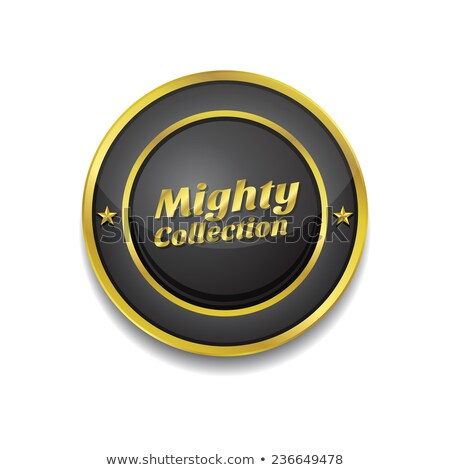 Mighty Collection Gold Vector Icon Button Stock photo © rizwanali3d