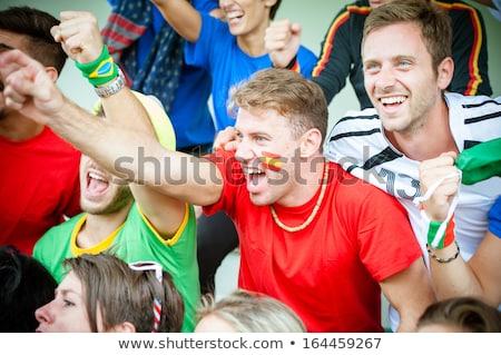 femenino · espanol · fútbol · ventilador · ojo · cara - foto stock © photography33