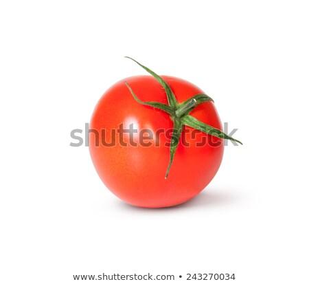 Frischen rot Tomaten grünen Stengel isoliert Stock foto © Cipariss
