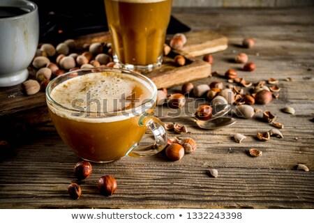 Cappucchino mogyoró fából készült csokoládé por tej Stock fotó © Rob_Stark