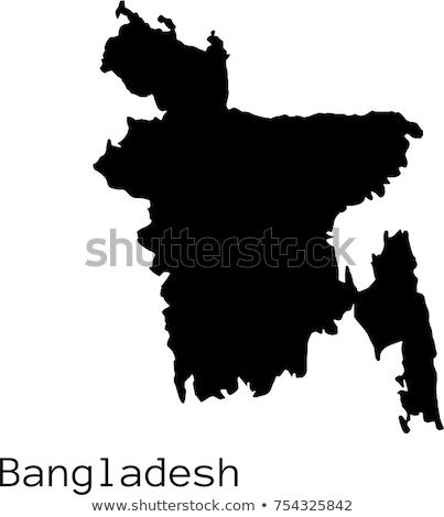 Banglades térkép különböző színek szimbólumok fehér Stock fotó © mayboro1964