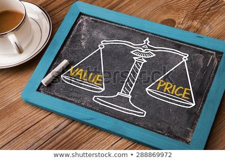 ár · érték · egyensúly · mérleg · kéz · rajz - stock fotó © ivelin
