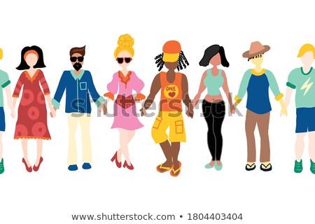 セット · 男性 · 女性 · ジェンダー · シンボル · 一緒に - ストックフォト © oneo
