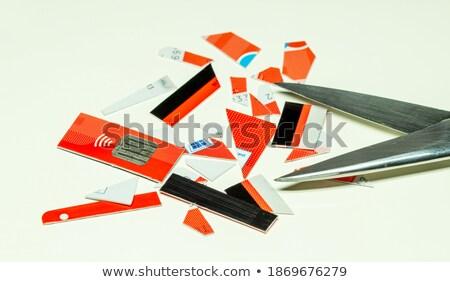 függőség · kártya · olló · négy · pikk · papír - stock fotó © michaklootwijk