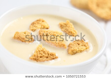 Danish cold buttermilk soup  Koldskal Stock photo © Klinker