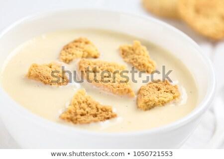 Danish cold buttermilk soup  Koldskal Stock photo © Klinker