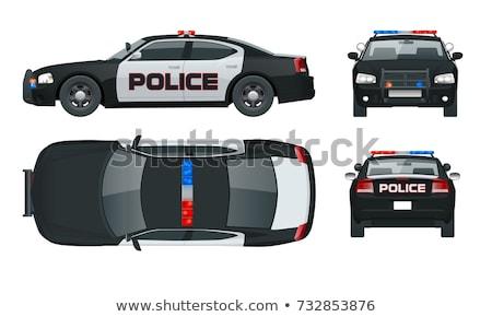polícia · carro · isolado · branco · abstrato · lei - foto stock © leonido