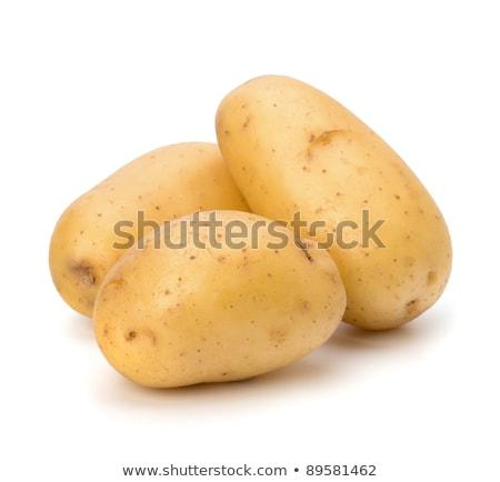 Stock photo: potato isolated on white background close up