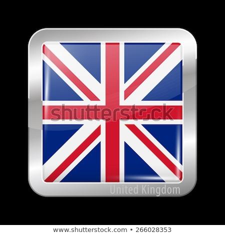 Vierkante metaal knop vlag europese unie Stockfoto © MikhailMishchenko
