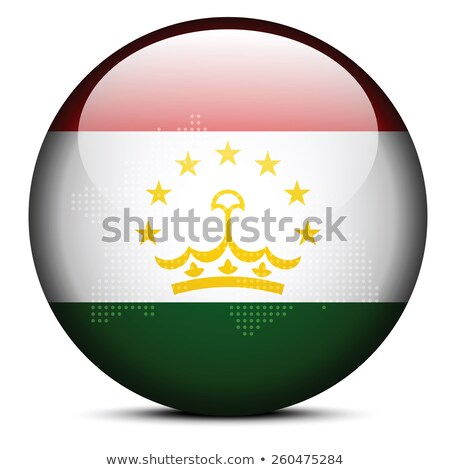 Map with Dot Pattern on flag button of Republic Tajikistan Stock photo © Istanbul2009