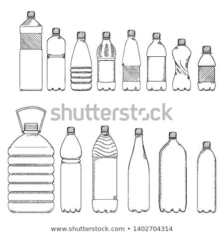 wenig · Flasche · Wasser · isoliert · weiß · grünen - stock foto © ozaiachin