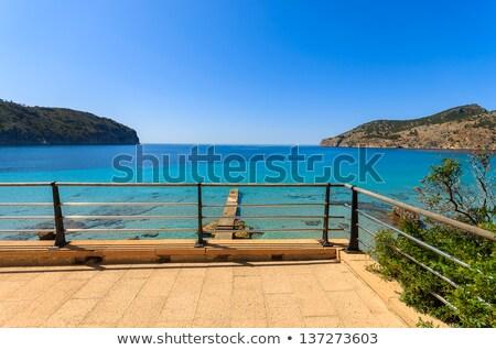 Majorca Balearic house patio in Balearic islands Stock photo © lunamarina