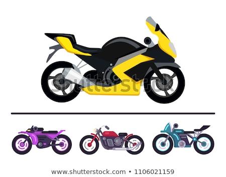 Motor · велосипедов · мотоцикле · автомобиль · курьер · икона - Сток-фото © Dxinerz