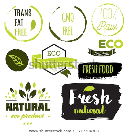 set of fresh organic labels and elements stock photo © wad
