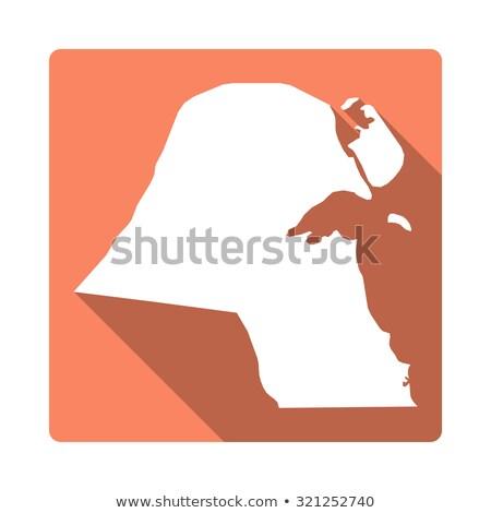 оранжевый кнопки изображение карт Кувейт форме Сток-фото © mayboro