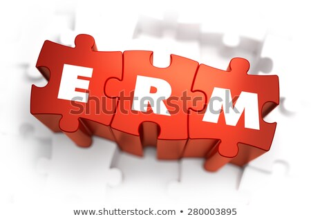 ERM - Text on Red Puzzles. Stock photo © tashatuvango
