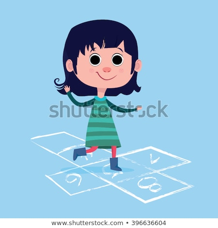 Cute little girl coloring in on an outdoor patio Stock photo © ozgur