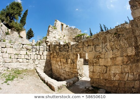 Ruins of Byzantine church in Jerusalem Stock photo © Zhukow