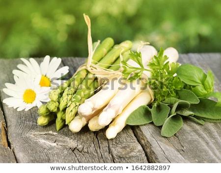 frischen · weiß · Spargel · seicht · Gesundheit · Tabelle - stock foto © rob_stark