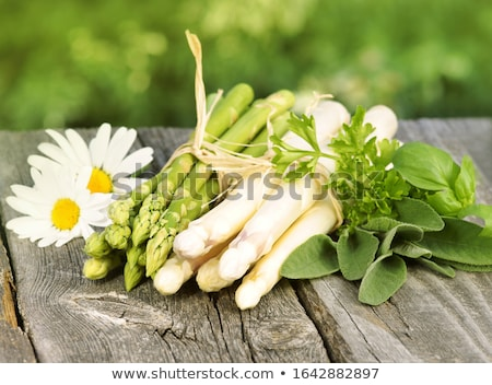 Macro verde branco espargos jantar Foto stock © Rob_Stark