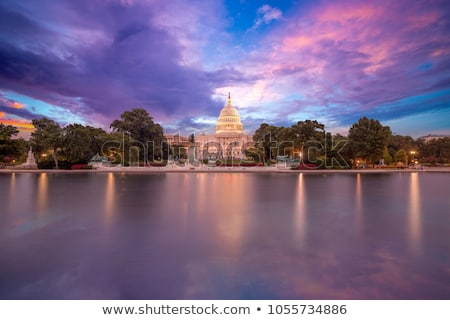 edifício · Washington · DC · pôr · do · sol · congresso · EUA · casa - foto stock © vichie81