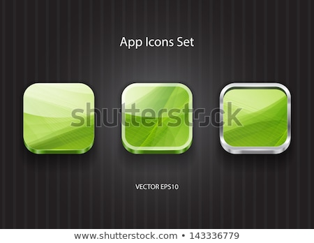 multimedia web internet square vector green icon design set stock photo © rizwanali3d